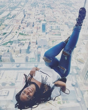 Amanda P. @ Sky Deck at Willis Tower (Sears Tower)