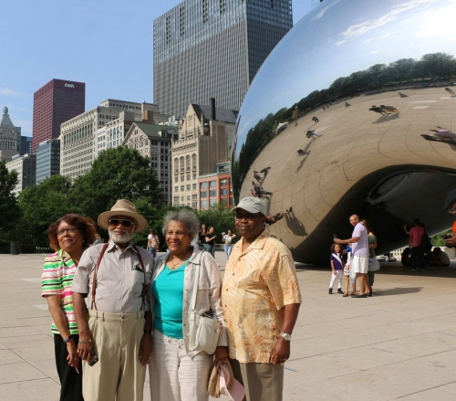 Hanging out at Millenium Park