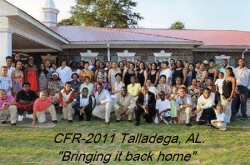 CFR Talladega, AL 2011  'A grand time was enjoyed by all'   Descendants of the Cuningham family of Talladega c
